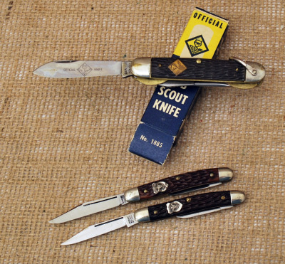 Three Official Boy Scouts of America Knives