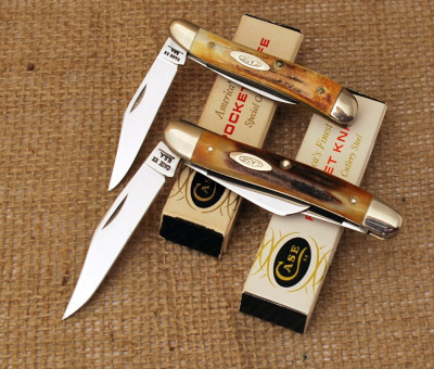 Two Case stag handled knives, c 1970