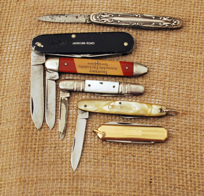 Six Vintage Starter Knives for New Collectors