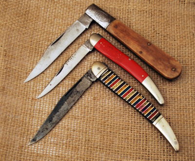 Toothpicks and Daddy Barlow Vintage Knives