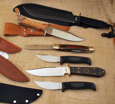 Six Imported Fixed Blade Knives